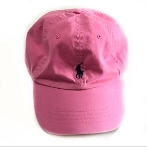 Youth Ralph Lauren polo pink baseball hat cap